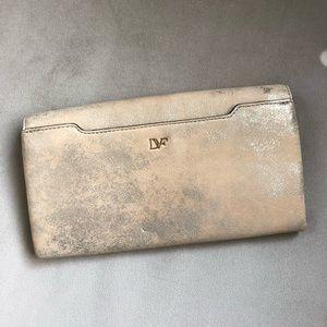 Diane Von Furstenberg Bags - NWOT DVF Clutch Diane von Furstenburg Gold Bag